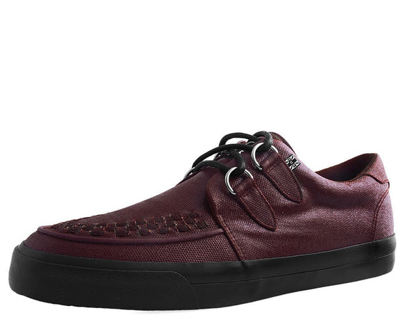 Burgundy Wax Canvas VLK Sneaker