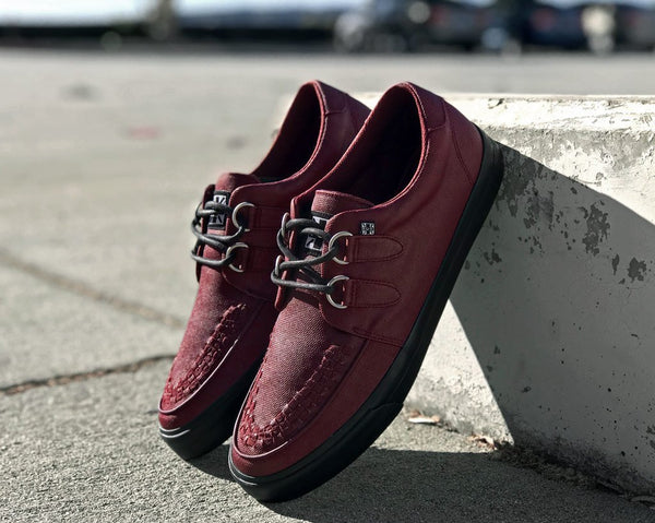 Burgundy Wax Canvas VLK Sneaker - *FINAL SALE/NON-RETURNABLE