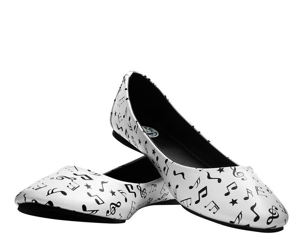 Black & White Music Note Flat