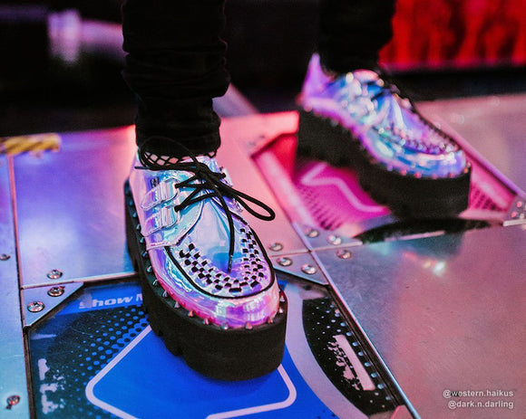 Ice Iridescent Dino Lug Sole Creeper