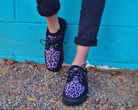 Black & Purple Leopard 2-Ring VLK Sneaker