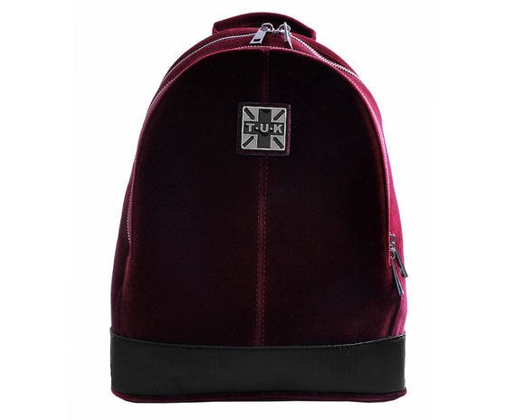 Burgundy Velvet Backpack - *FINAL SALE/NON-RETURNABLE