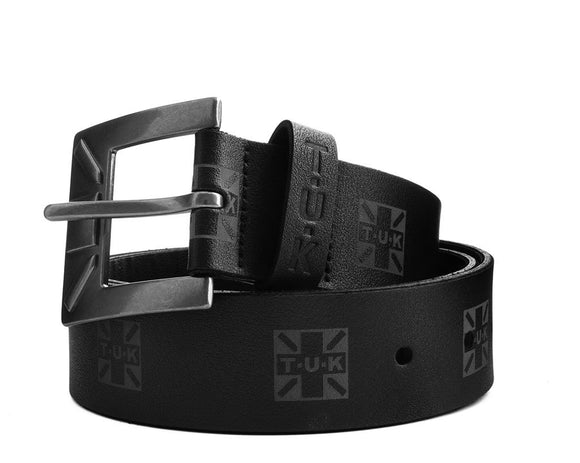 Black T.U.K Logo 40mm Belt - *FINAL SALE/NON-RETURNABLE