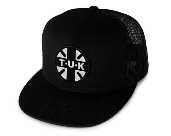 Black T.U.K. Logo Trucker Hat