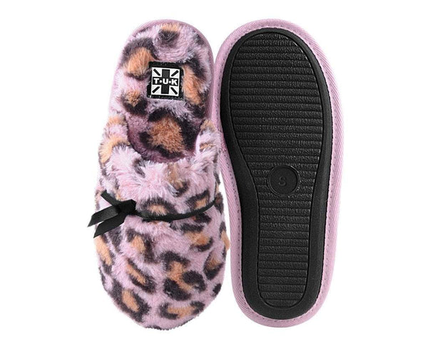 Pink Leopard Bow Slipper
