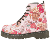 Pink Skull and Roses Boots