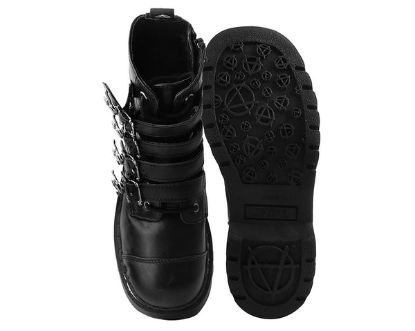 Black Skull Anarchic Boot