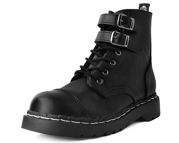 Black 2-Buckle Anarchic Boot