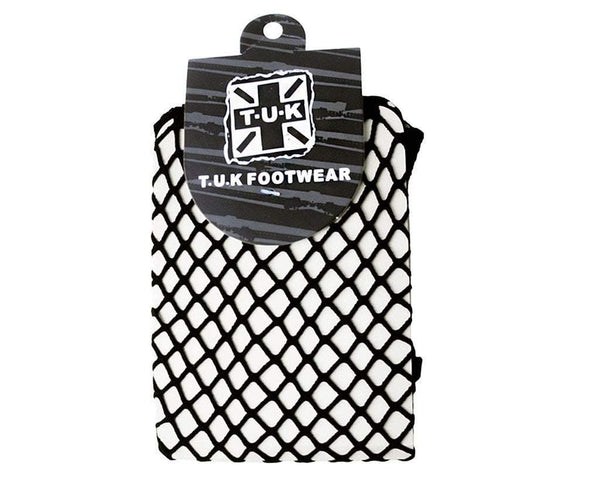 Black Fishnet Crew Sock