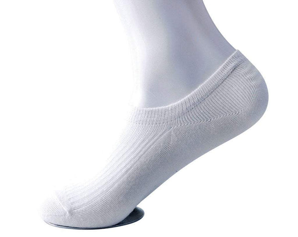White Men's No-Show Sock