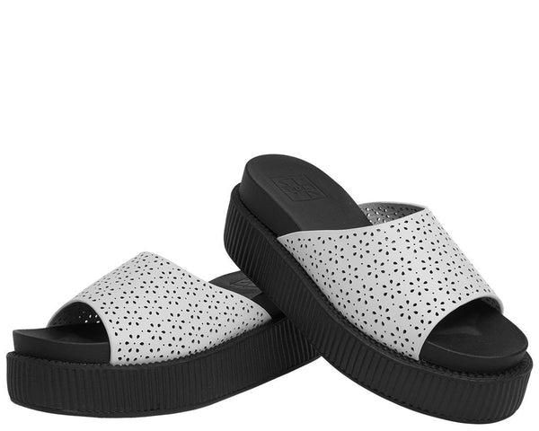 Flower Perforated Mule Sandal - T.U.K.