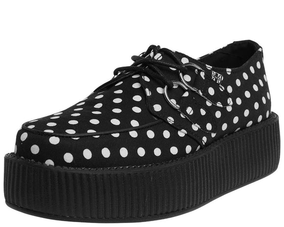 Black & White Polka Dot Creeper - T.U.K.