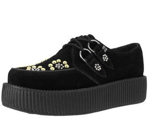 Black Suede Sun Studs Creeper
