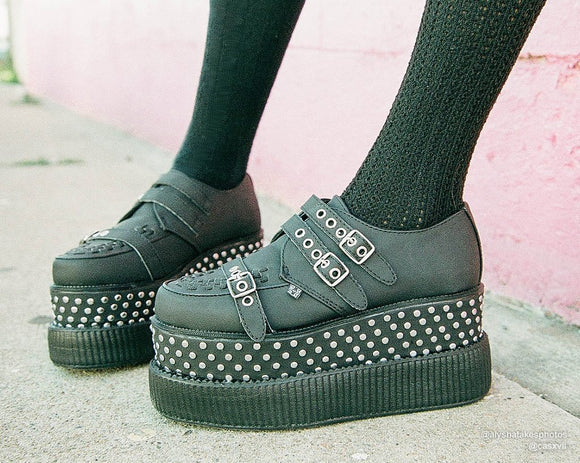 Black Studded Double Double Creeper