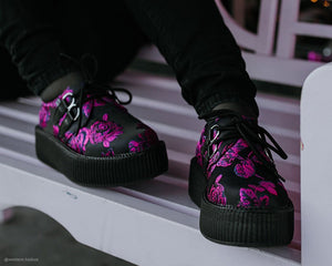 Black & Purple Floral Viva Mondo Creeper
