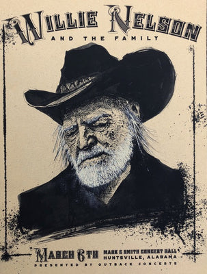 Plagues, Ink & Coffee - Vol 5 - Willie Nelson Show Prints - New Release
