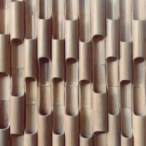 Bamboo Pole Wall Feature