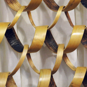 Bamboo Spiral Wall Feature