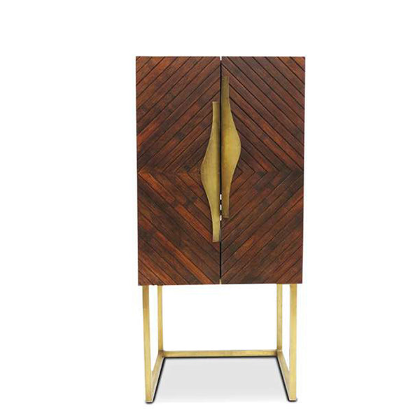 Peek Collection Bamboo Mini Bar Cabinet