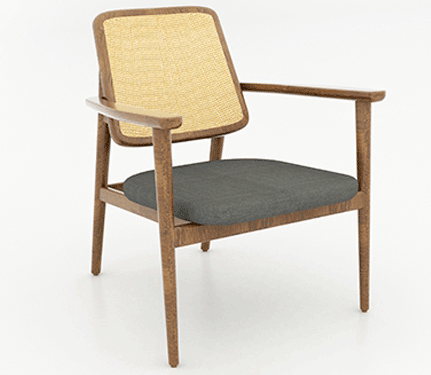 Gedhe Teak and Rattan Facelift Chair