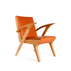 Leather Jengki Teak Relax Chair