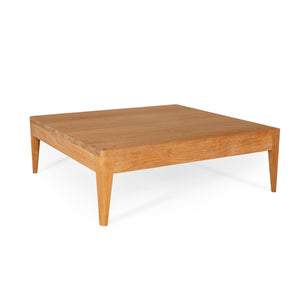 Low coffee table handmade from natural teak.