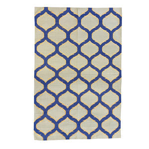 New Trellis Dhurrie Cotton Rug