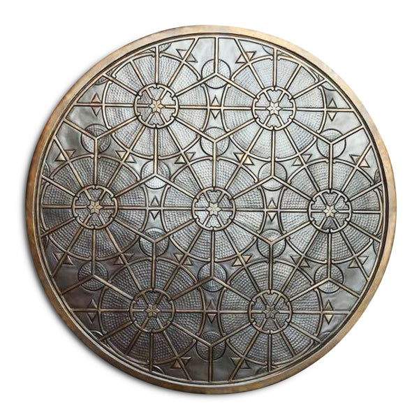 FLOWER Brass Wall Art