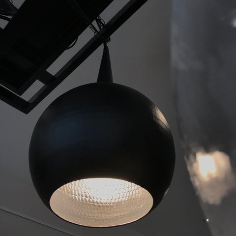Kubah Light in Aluminum with Light Black matte finish