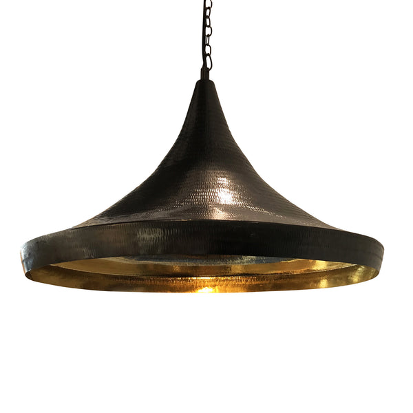 Trumpet Light in Brass with Glossy Black Finish