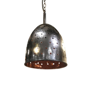Scoopy Pendant Light Fixture, Copper with Chain Holes