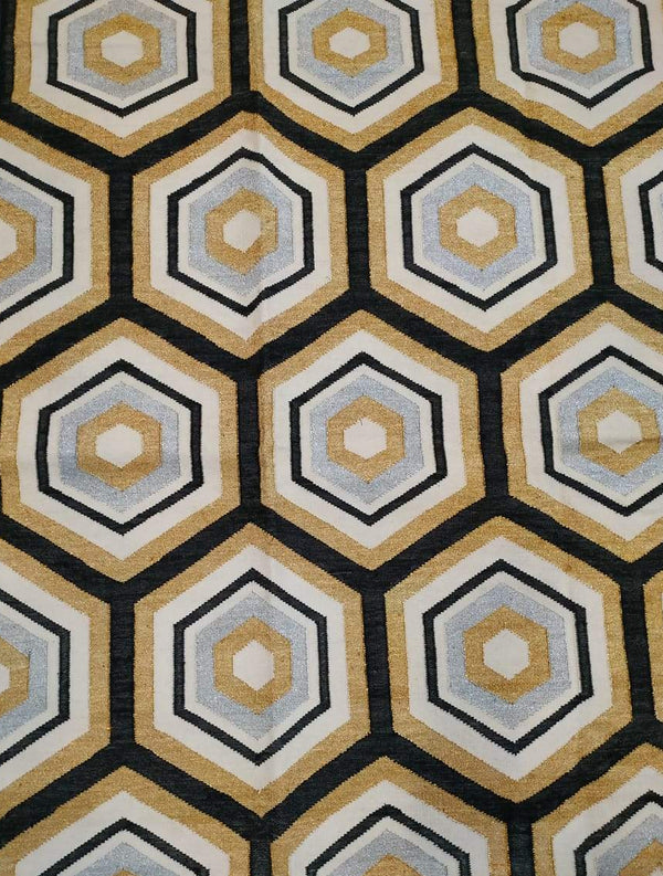 Honeycomb C Dhurrie Cotton Rug