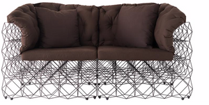 Rubic Powder Coated Metal Two Seater Sofa