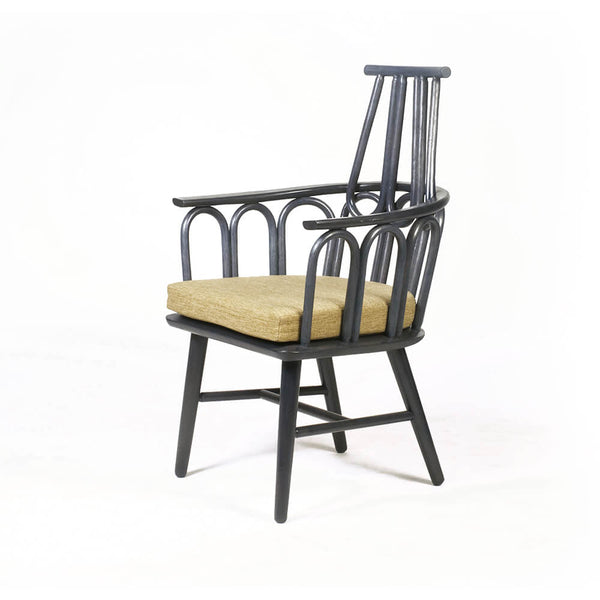 Rattan and Mahogany Amarta Dining Chair