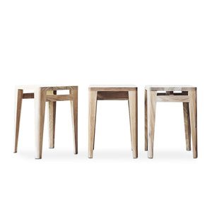 Lula Solid Teak Wooden Stool