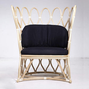 Living Room And Dining Room Chair Made from Natural rattan and Leather.
