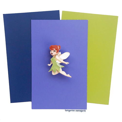 Tinker Bell Mini Brooch - Peach Skin/Red Hair