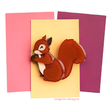 Red Squirrel Brooch