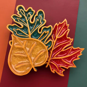 Autumn Leaves Brooch