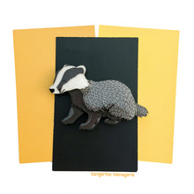 Badger Brooch