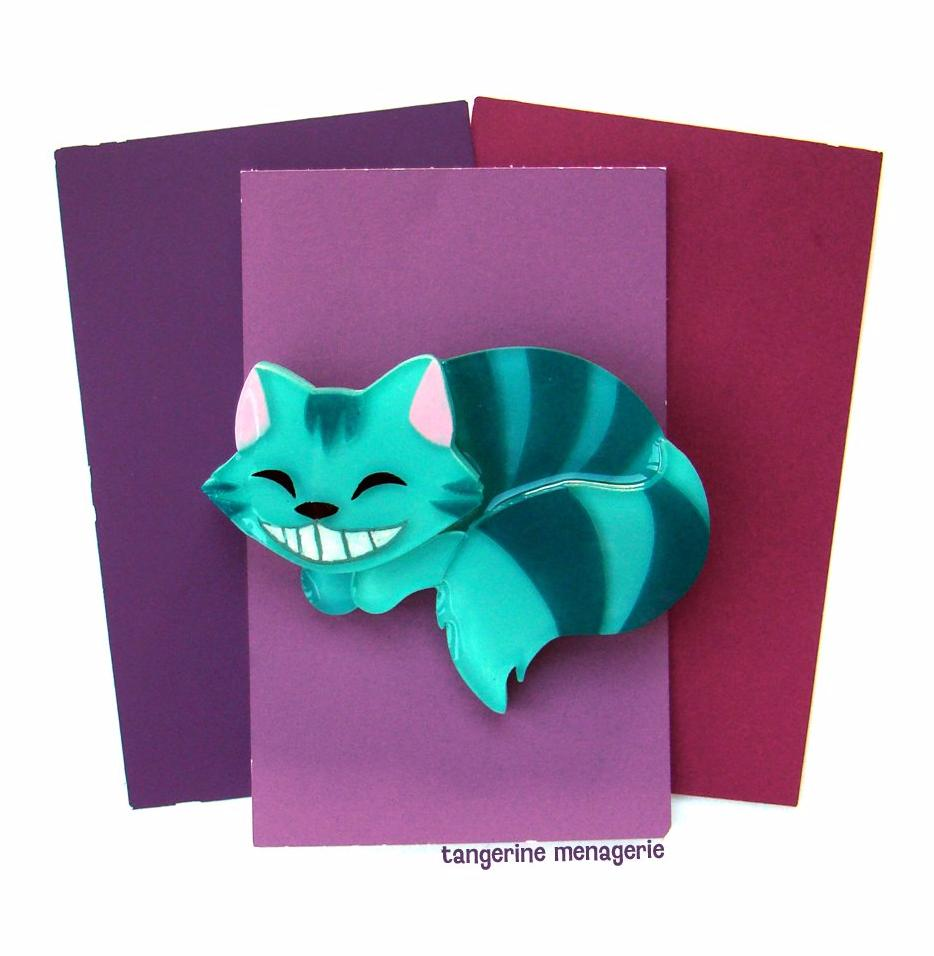 Cheshire Cat Brooch