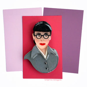 Edith Head Portrait Brooch