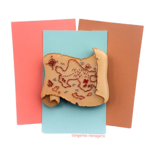 Treasure Map Brooch