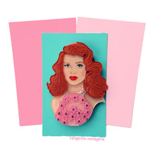 Rita Hayworth Portrait Brooch