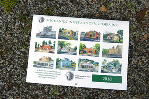 2018 Calendar - Mechanics' Institute Watercolours by Damian Callanan