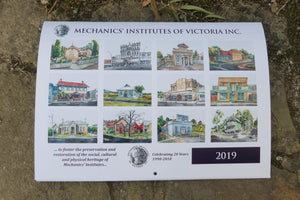 2019 Calendar - Mechanics' Institute Watercolours by Damian Callanan