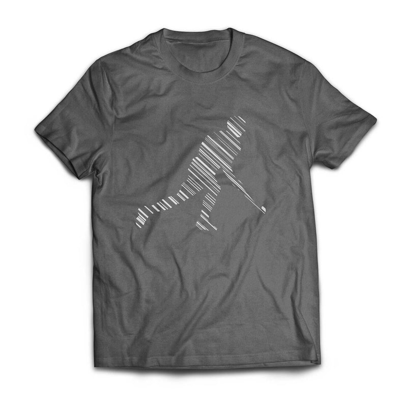 Striped Tee Charcoal Men's