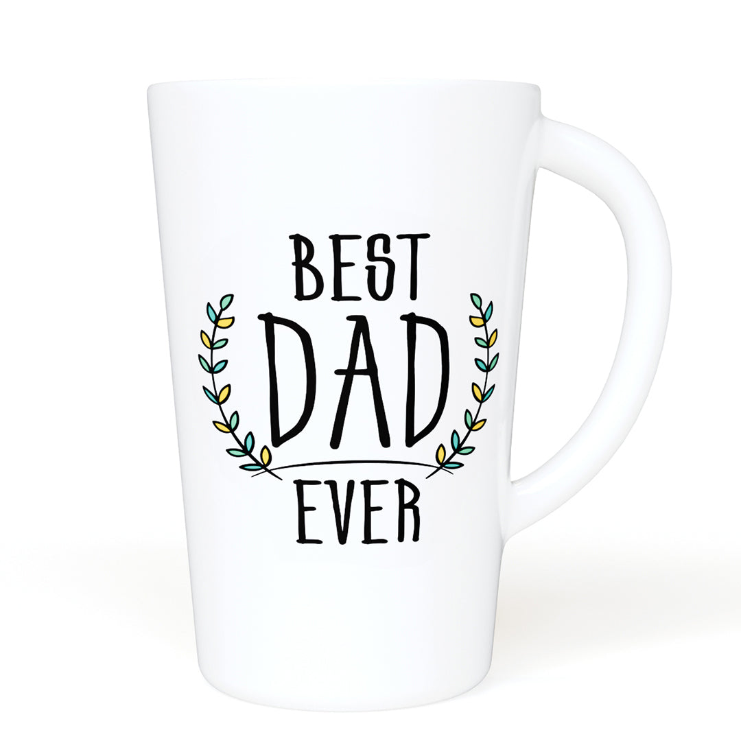 Best Dad Ever - 16 oz Ceramic Mug with Handle for Home of Office- Great Gift For Your Father