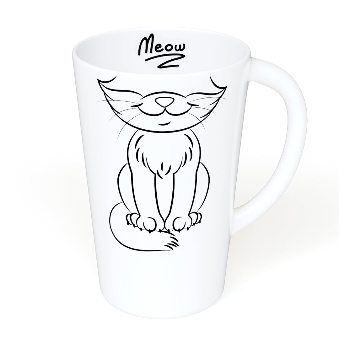 Meow! 16oz Ceramic Mug for Cat Lovers - A Gift For Those Who Love Cats
