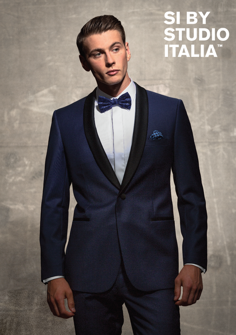 Studio Italia Bond Blue Dinner Jacket